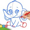 Video: Anime Baby Elephant from Anime Animals