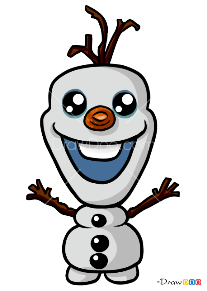 How to Draw Olaf, Kawaii style