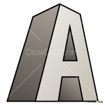 How to Draw A, 3D Letters