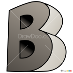 How to Draw B, 3D Letters