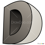 How to Draw D, 3D Letters