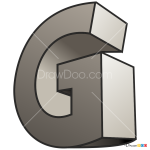 How to Draw G, 3D Letters