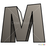 How to Draw M, 3D Letters