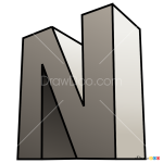 How to Draw N, 3D Letters