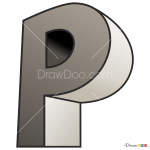 How to Draw P, 3D Letters