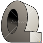 How to Draw Q, 3D Letters