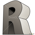 How to Draw R, 3D Letters