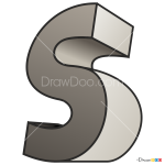How to Draw S, 3D Letters