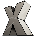 How to Draw X, 3D Letters