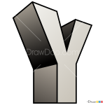 How to Draw Y, 3D Letters