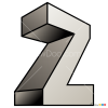 How to Draw Z, 3D Letters