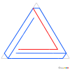 How to Draw Penrose Triangle, 3D Objects