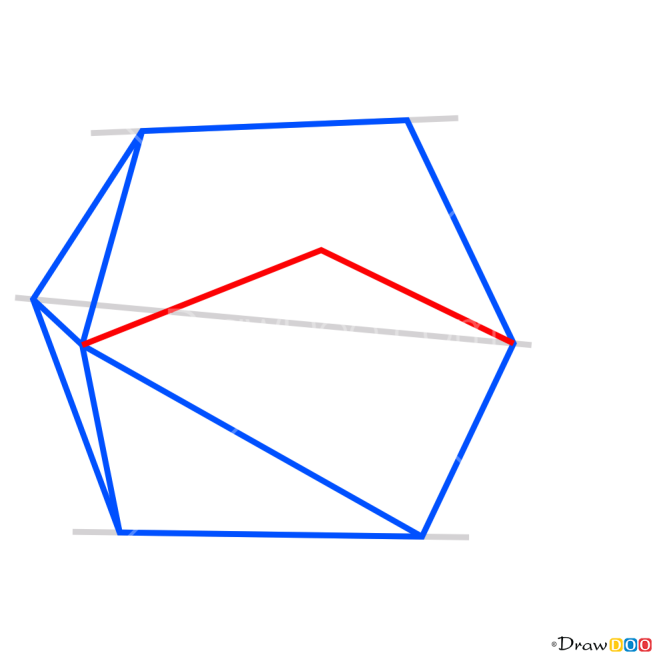 How to Draw 3D Hexagon, 3D Objects