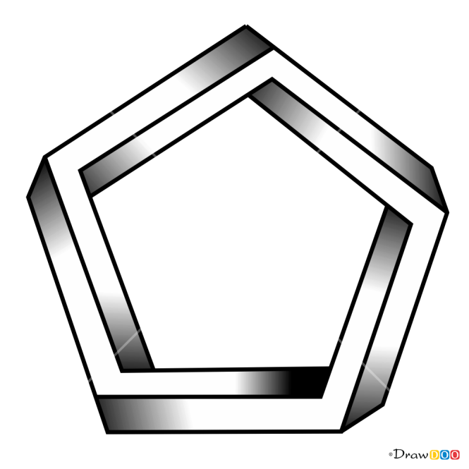 How to Draw Impossible Pentagon, 3D Objects