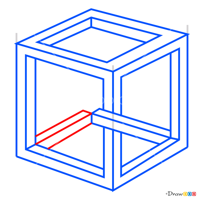 How to Draw Impossible Cube, 3D Objects