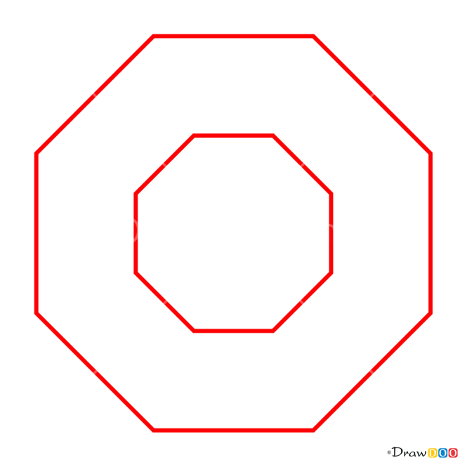 How to Draw Twisted Octagon, 3D Objects