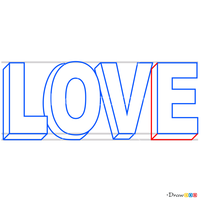 How to Draw Love in 3D, 3D Objects