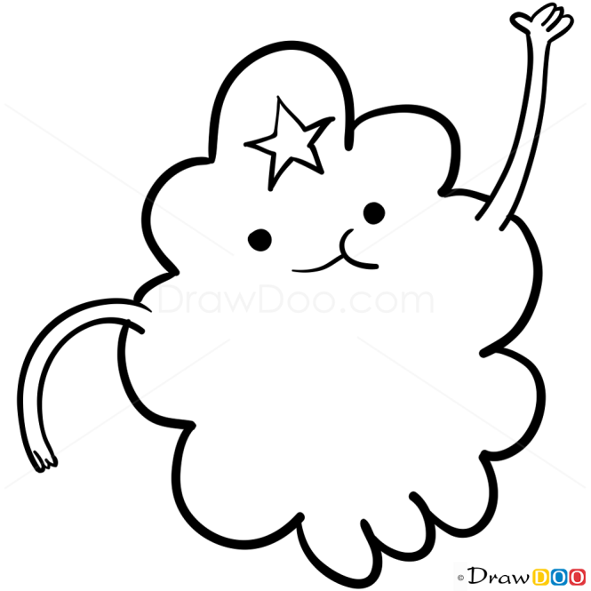 How to Draw Lumpy Space Princess, Adventure Time