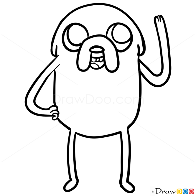 How to Draw Jake, Adventure Time