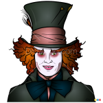 How to Draw Mad Hatter, Alice in Wonderland