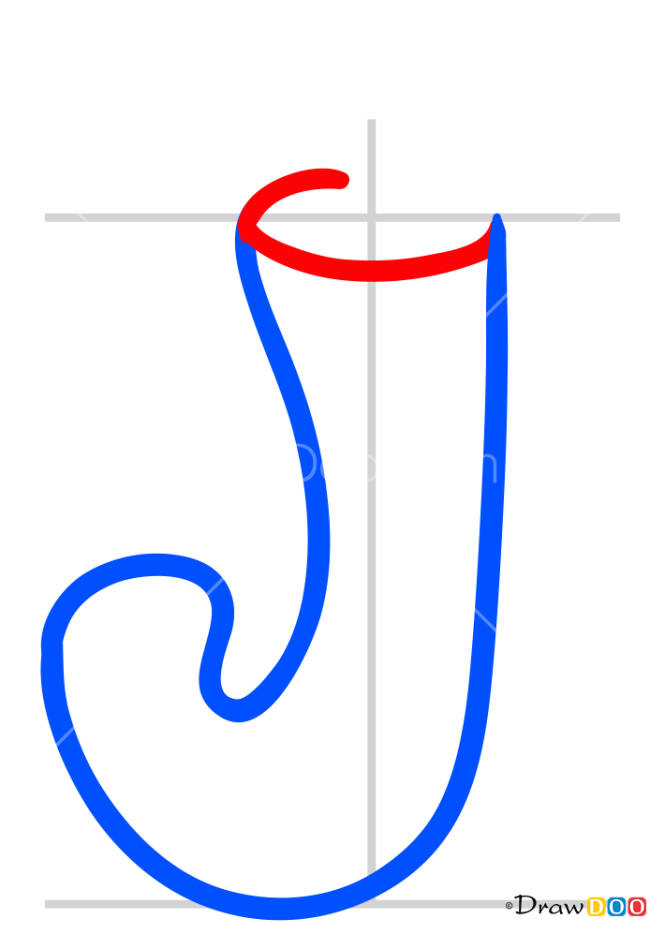 How to Draw J, Alphabet for Kids