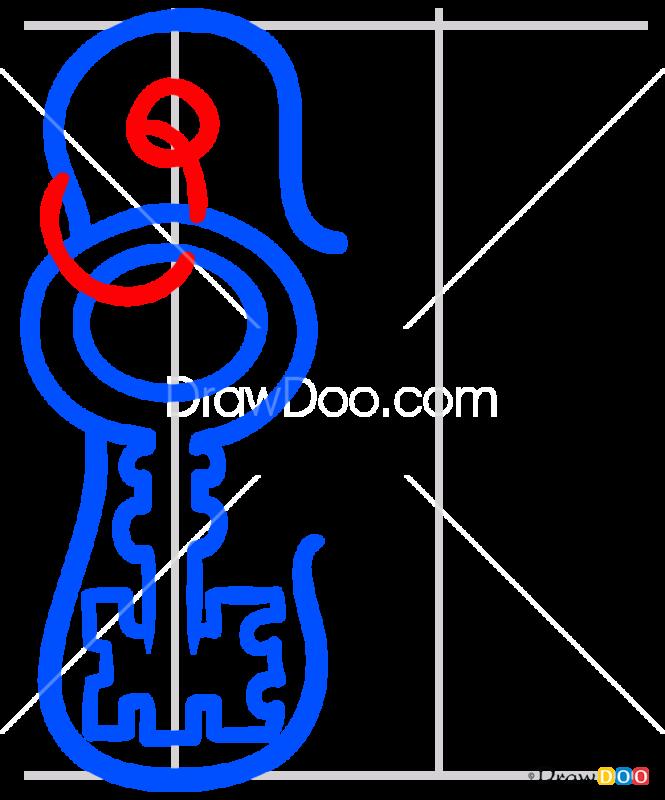 How to Draw K, Alphabet for Kids