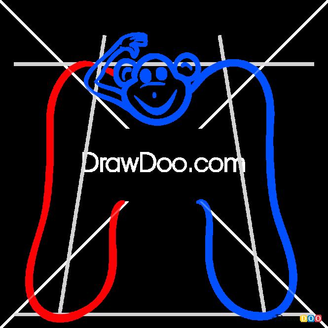 How to Draw M, Alphabet for Kids