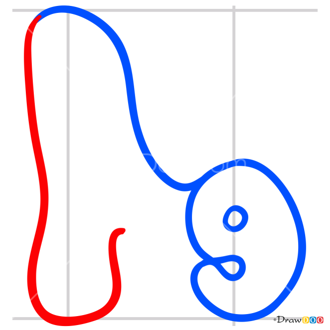How to Draw N, Alphabet for Kids