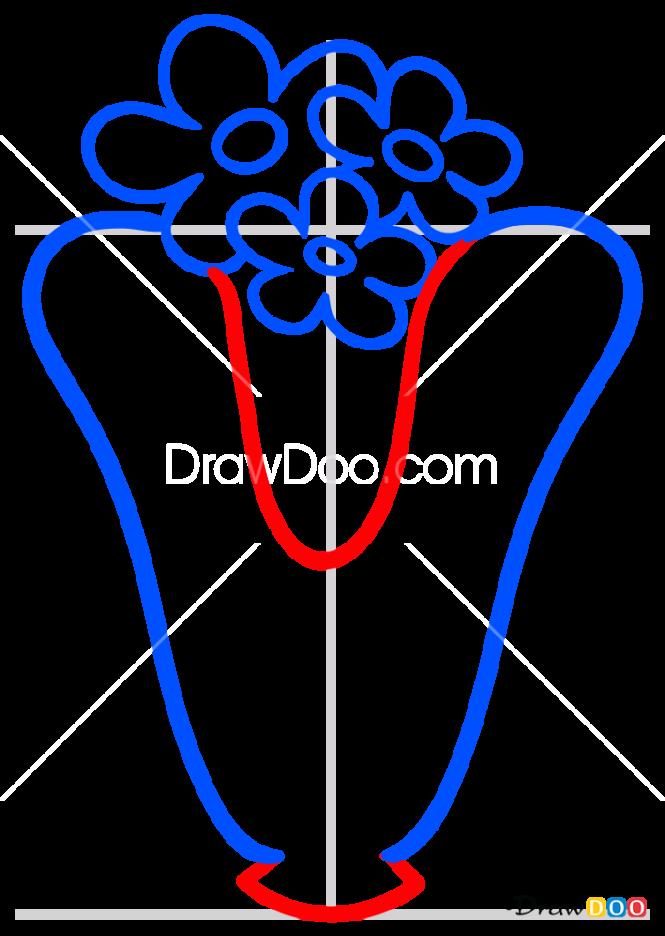 How to Draw V, Alphabet for Kids