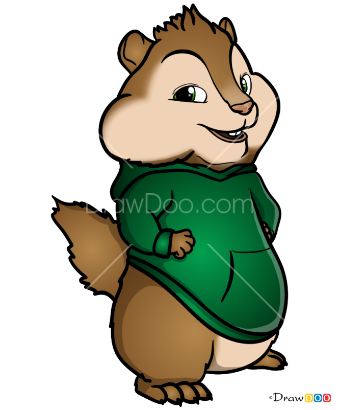 How to Draw Theodore Seville, Alvin and Chipmunks