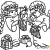 How to Draw Twins Angels, Christmas Angels