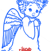 How to Draw Adorable Angel, Christmas Angels