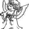 How to draw beautiful angel christmas angels