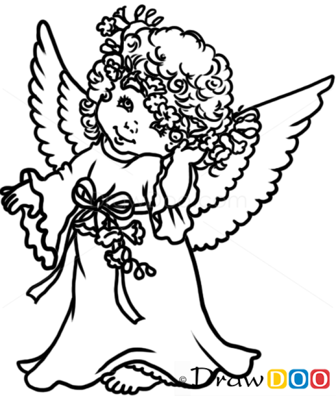 how to draw beautiful angel christmas angels - A Christmas Angel