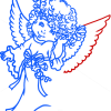 How to Draw Beautiful Angel, Christmas Angels