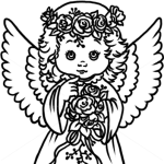 How to Draw Pretty Angel, Christmas Angels
