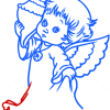 How to Draw Angel with Seashell, Christmas Angels