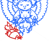 How to Draw Angel with Kitten, Christmas Angels