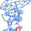 How to Draw Angel in the Rain, Christmas Angels
