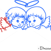 How to Draw Angel Friendship, Christmas Angels