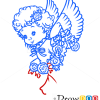 How to Draw Flying Angel, Christmas Angels