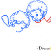 How to Draw Angels with Puppy, Christmas Angels