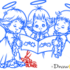 How to Draw Three Angels, Christmas Angels