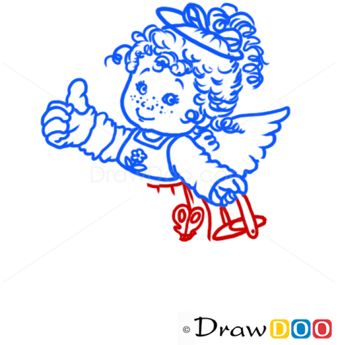 How to Draw Angel at work, Christmas Angels