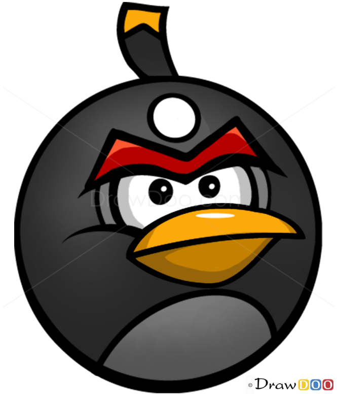 how to draw bomb bird angry birds. Black Bedroom Furniture Sets. Home Design Ideas