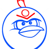 How to Draw Bomb Bird, Angry Birds