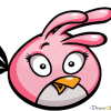 How to Draw Pink Bird, Angry Birds