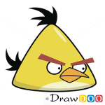 How to Draw Yellow Bird, Angry Birds
