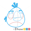 How to Draw White Bird, Angry Birds