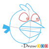 How to Draw Blue Bird, Angry Birds